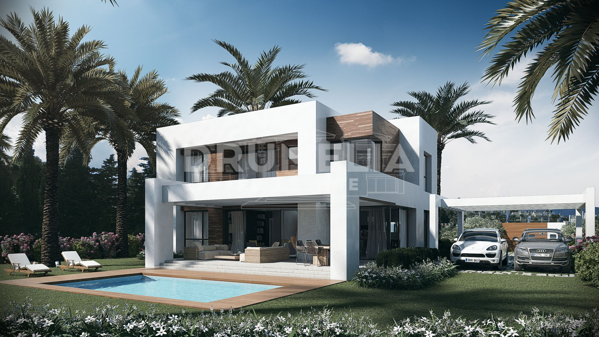 Estepona, Stylish Modern Villa from Azure Collection Project in El Paraiso, Estepona