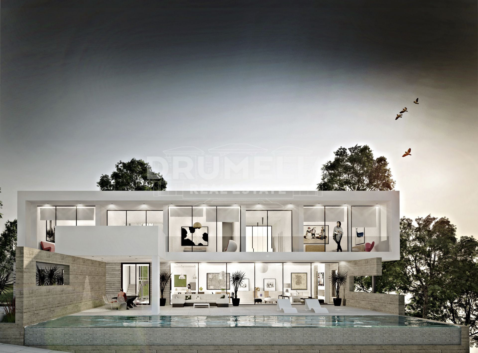 Ojen, Fabulous New Contemporary Villa in La Mairena, Marbella East