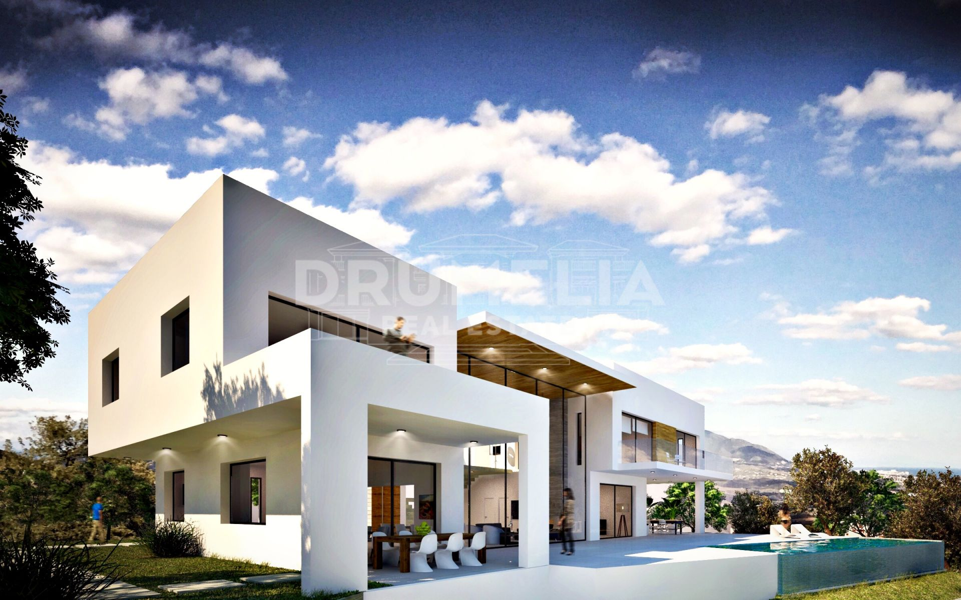 Ojen, New Luxury Modern Villa in La Mairena or Spectacular Plot with Project, Marbella East