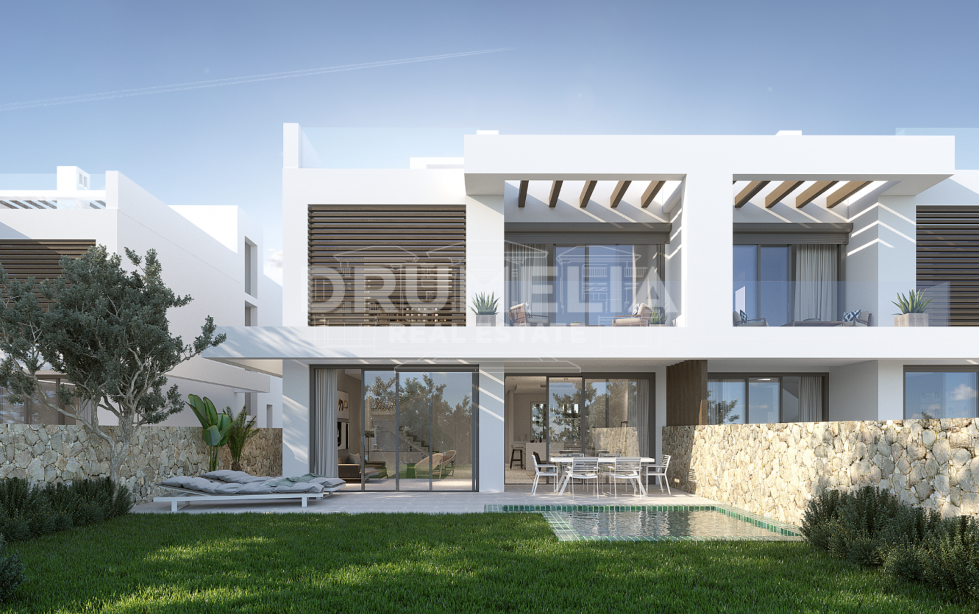 Marbella East, New Elegant Contemporary Semi-Detached Luxury Villa, Cabopino, Marbella East