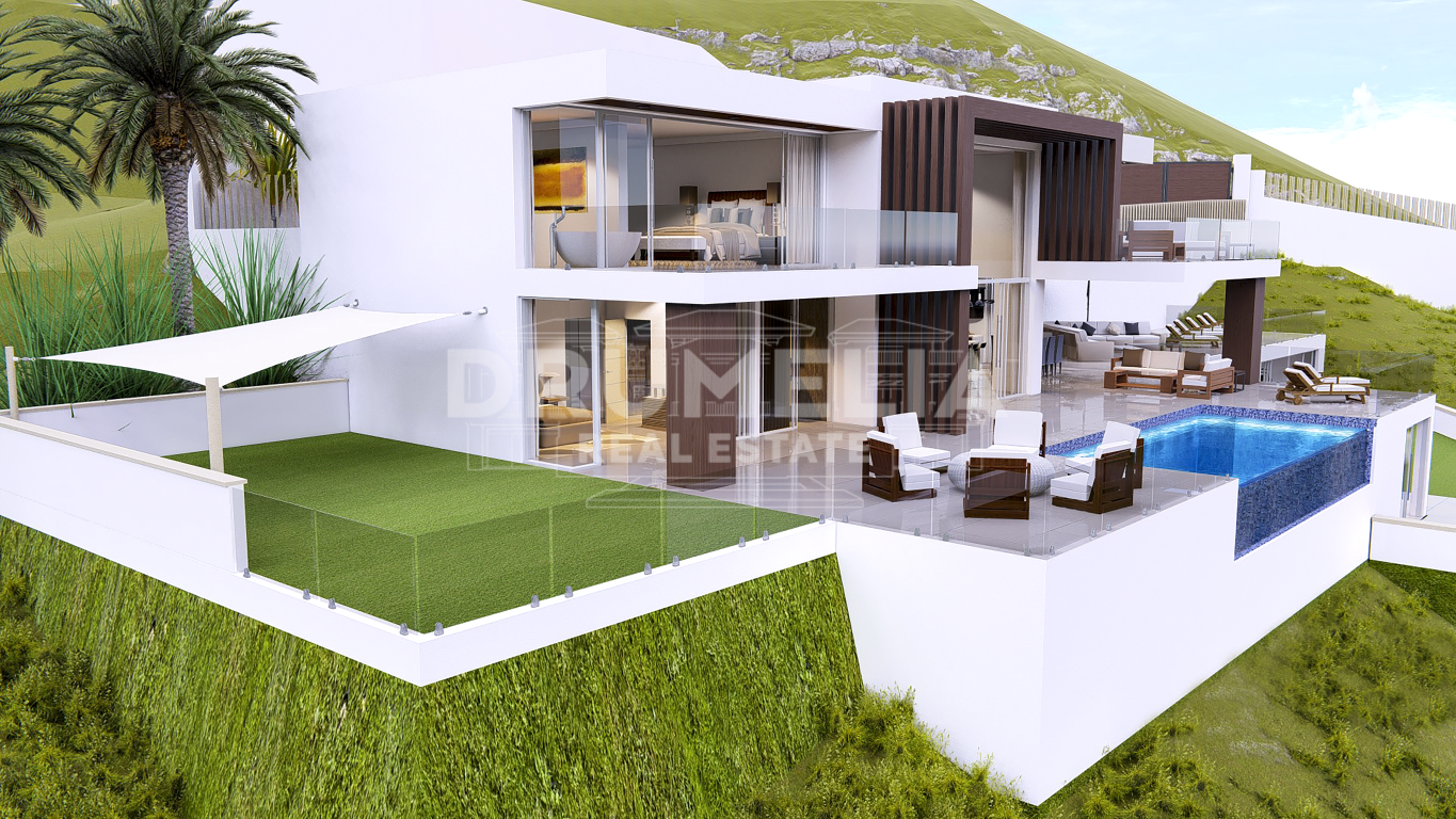 Benahavis, Magnificent Plot with Superb Project of 3 Stunning Modern Luxury Villas, Monte Mayor, Benahavis.