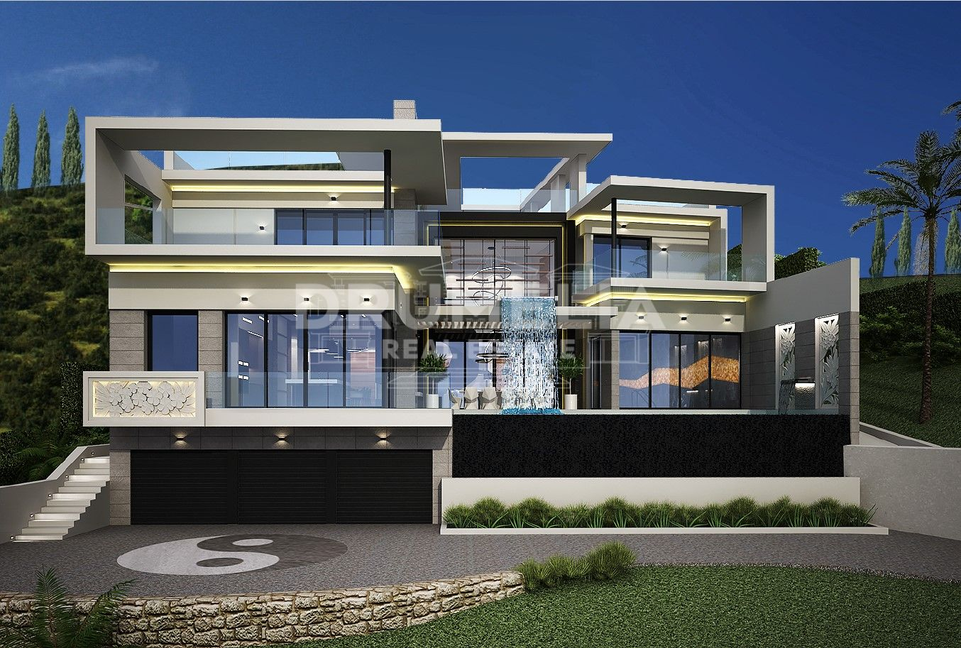 Benahavis, Brand-New Impressive Contemporary Style Luxury Villa (Project), Monte Mayor, Benahavis