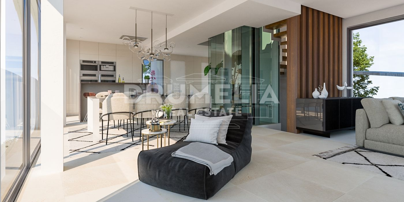 Benahavis, New Superb Contemporary Style Semi-detached Villa with Breath-taking Views (project), Benahavis