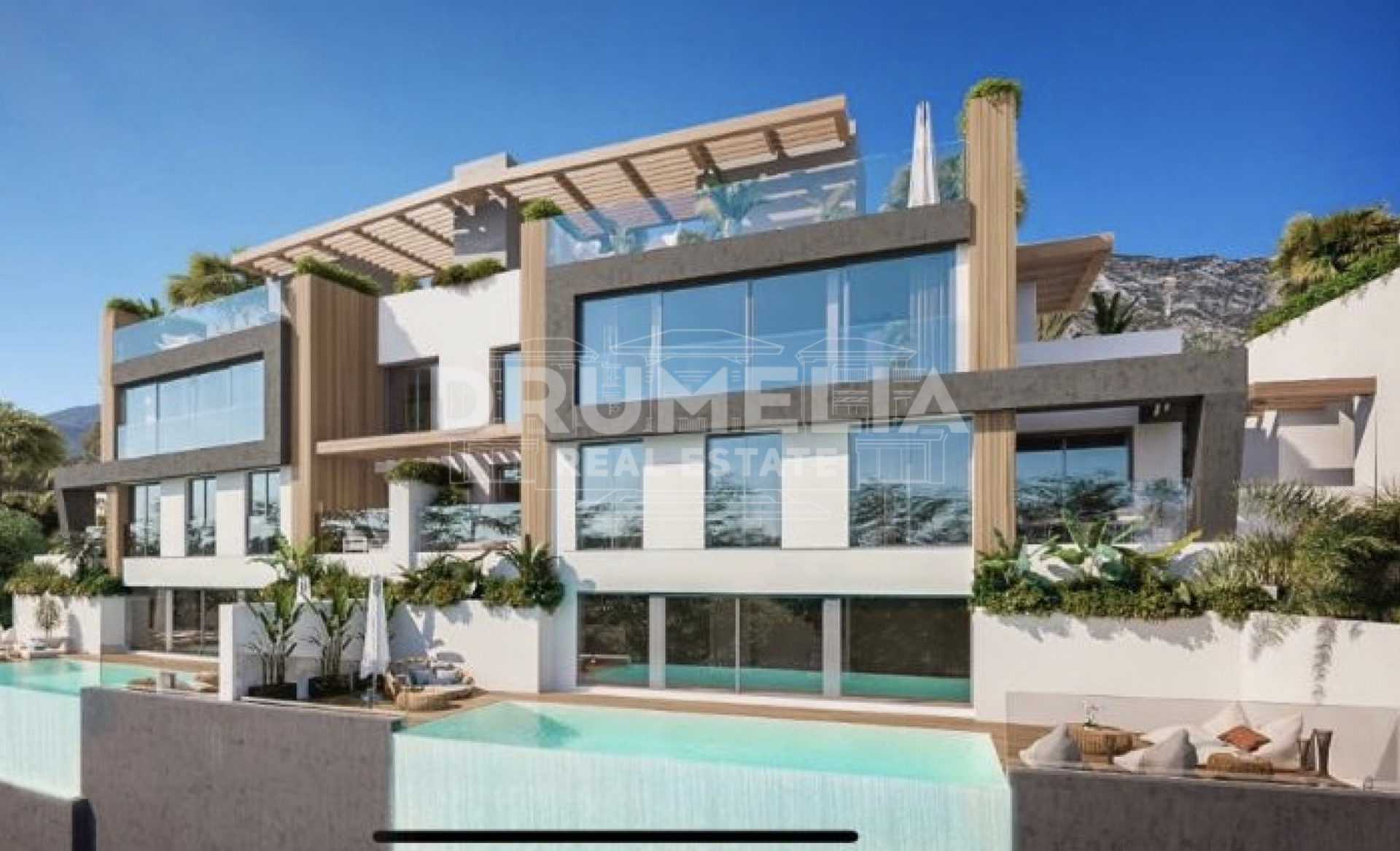 Benahavis, New Stunning Modern Semi-Detached Luxury Villa (project), Benahavis
