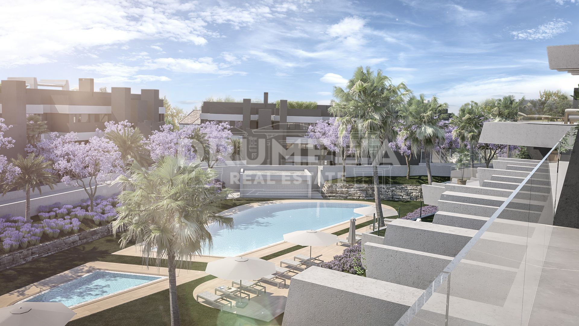 Estepona, Attractive Brand-New Frontline Golf Modern Luxury Ground Floor Apartment with Garden, La Resina Golf, Estepona