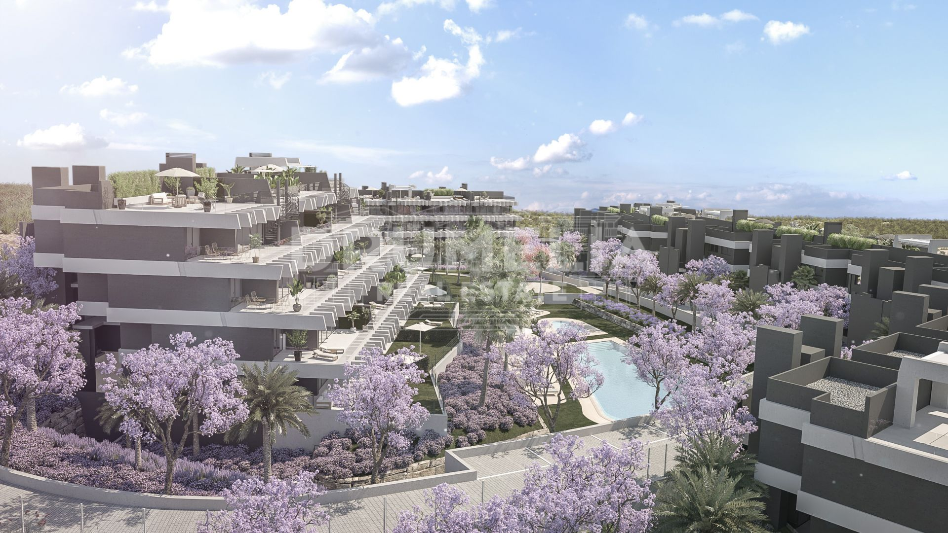 Estepona, Superb Brand-New Frontline Golf Modern Luxury Apartment, La Resina Golf, Estepona