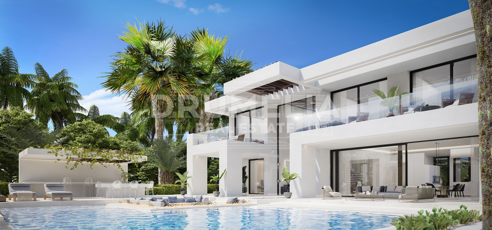 Estepona, New Magnificent Frontline Golf Contemporary Style Luxury Villa with Stunning Panoramic Views, La Resina Golf & Country Club, Estepona
