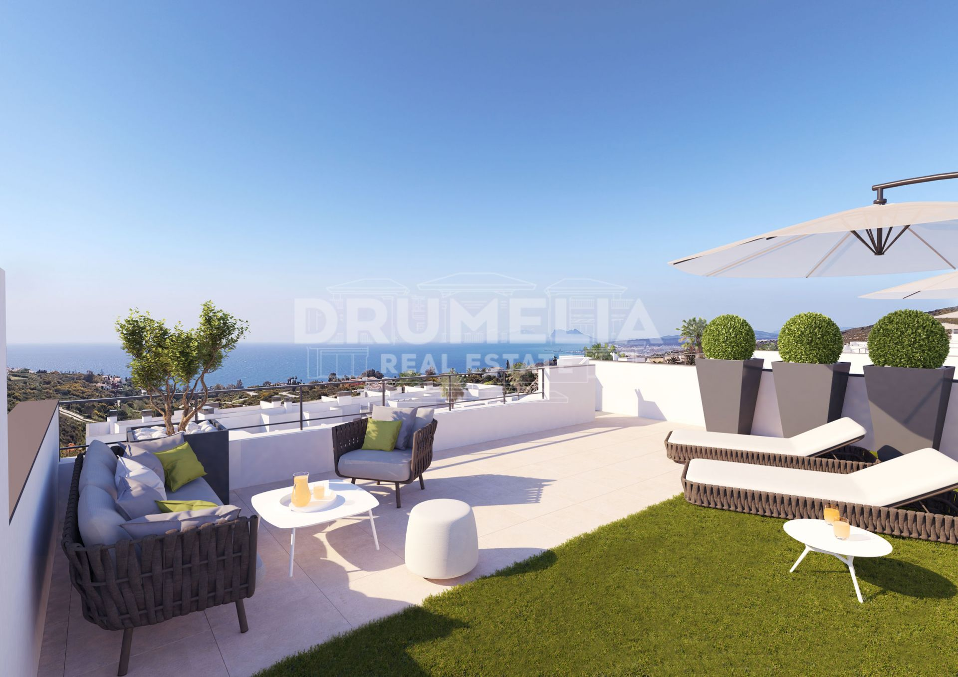 Manilva, Splendid New Modern Apartment with Stunning Panoramas, Manilva