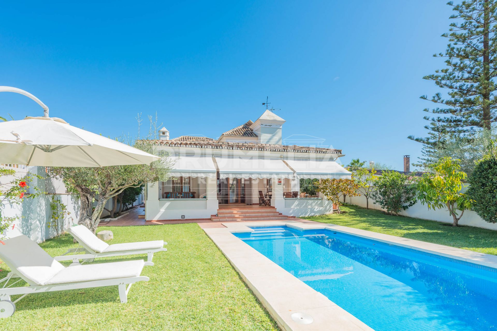 Marbella Golden Mile, Magnificent Andalusian Mediterranean Style Luxury Villa, Marbella Golden Mile