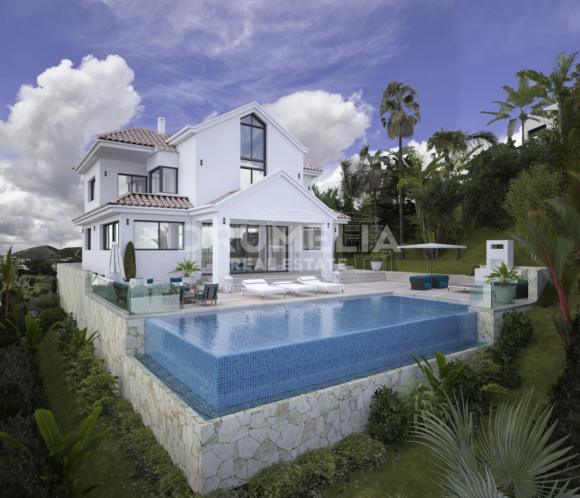Benahavis, Superb Plot with Modern Luxury Villa Project, Capanes Sur, Benahavis