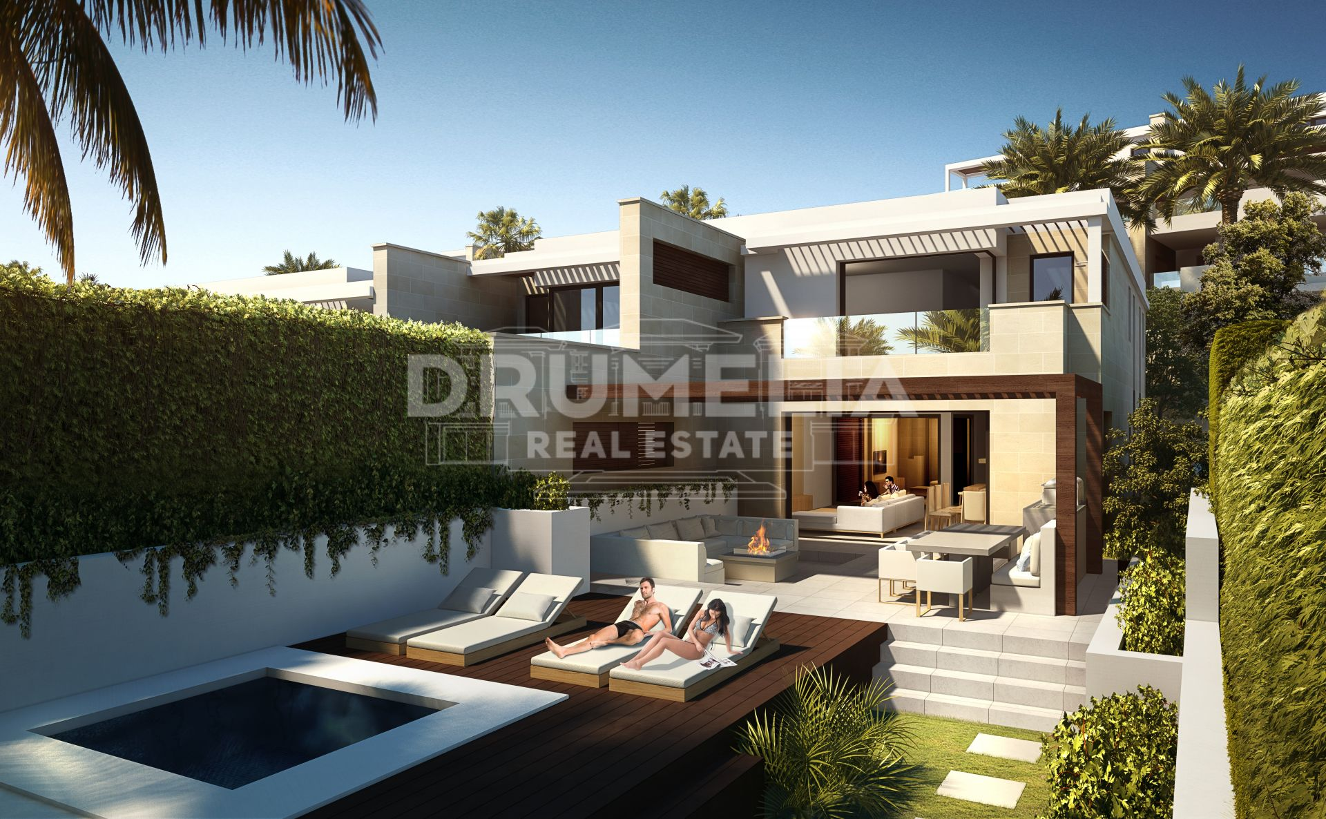 Estepona, New Unique Frontline Beach Modern Luxury Bungalow, New Golden Mile, Estepona