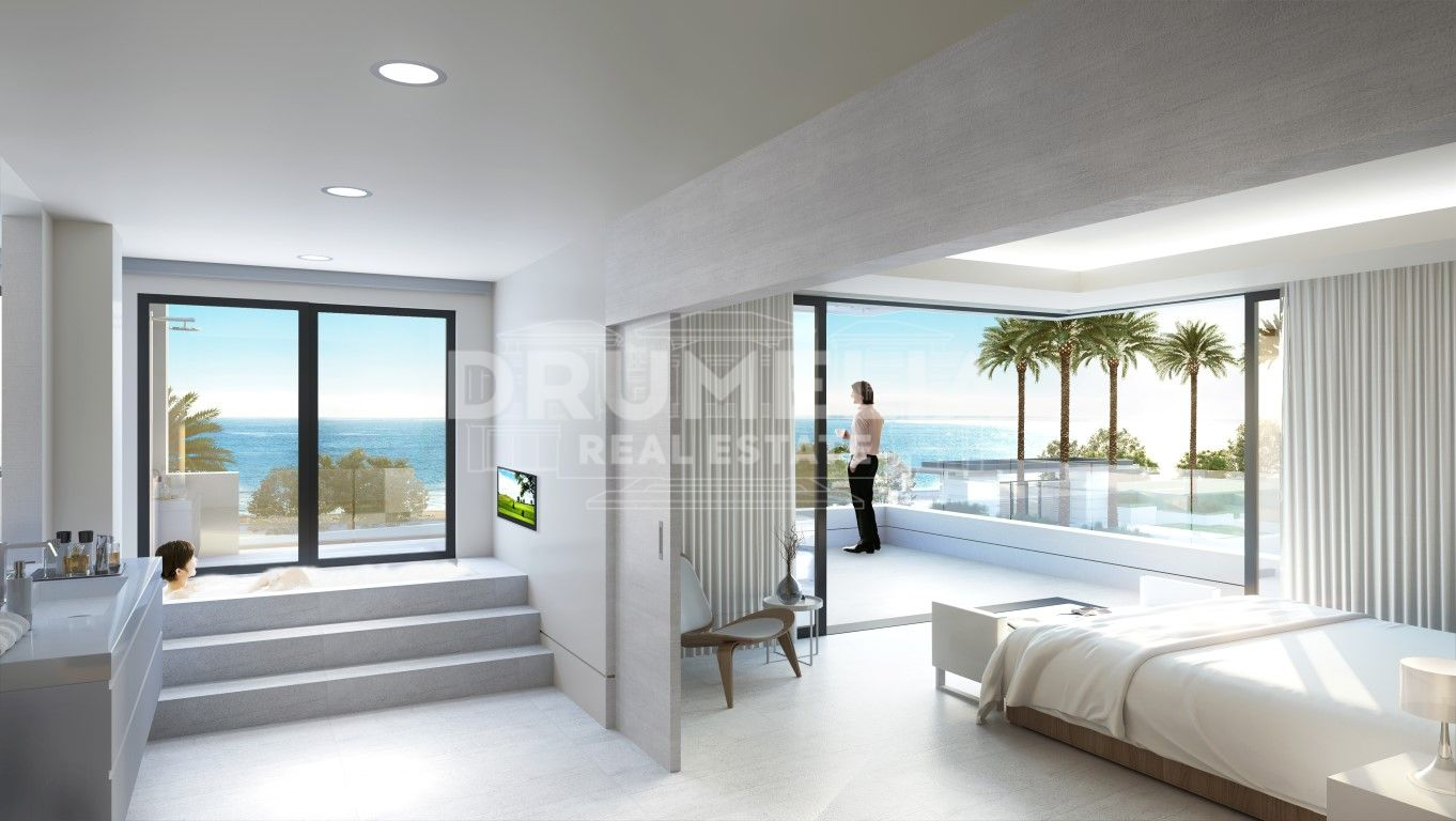 Estepona, New Unique Frontline Beach Modern Luxury Penthouse, New Golden Mile, Estepona