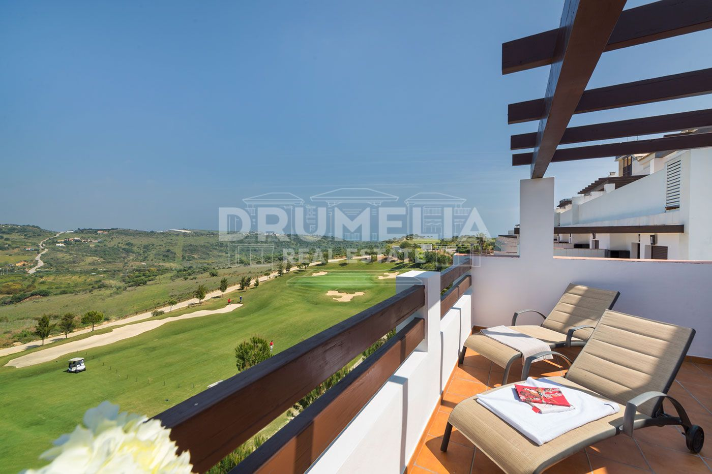 Estepona,  New Front Golf Apartment with Rental Guarantee and Serene Views in Valle Romano