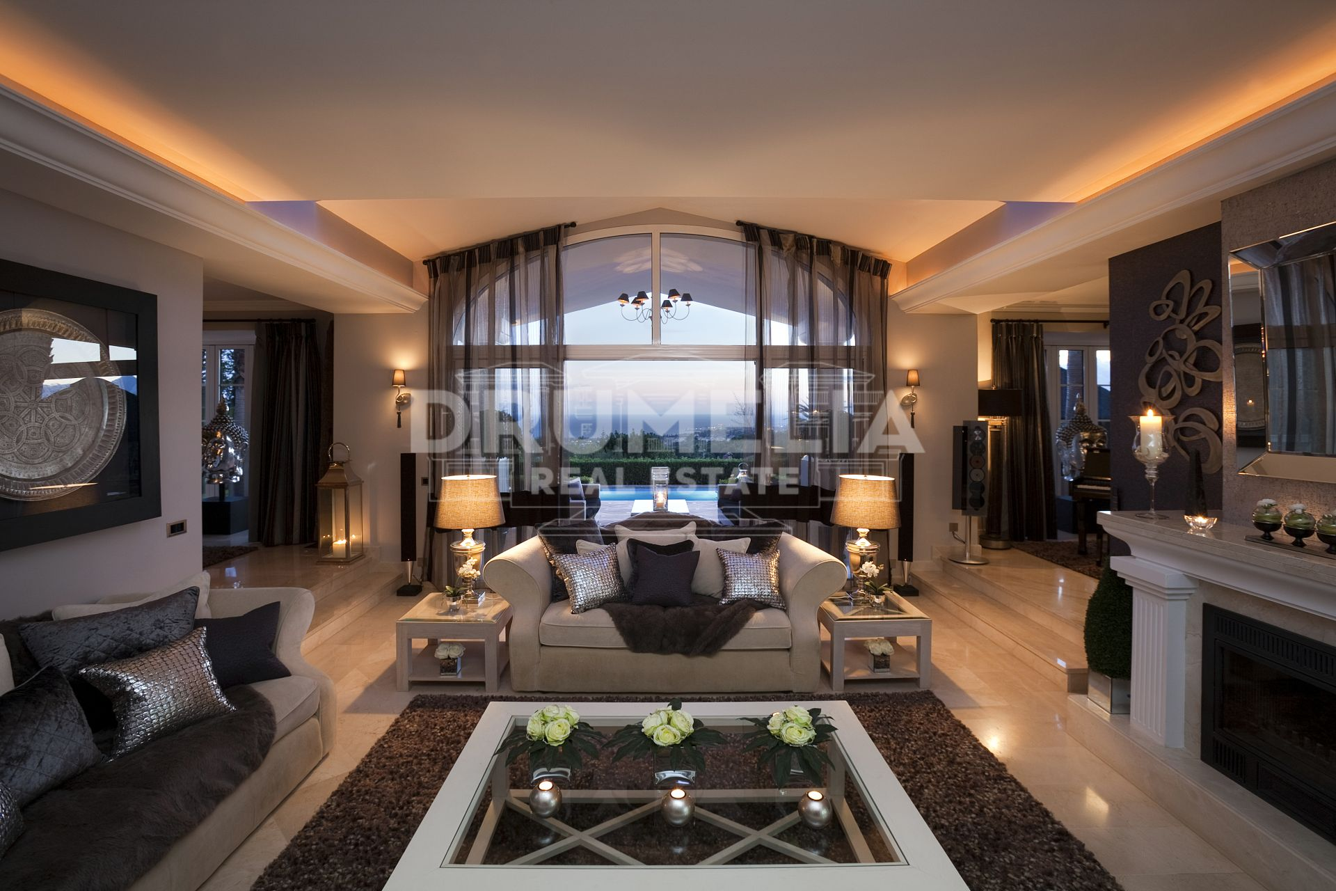 Marbella Golden Mile, 5 star private luxury villa nestled in the hills of Sierra Blanca