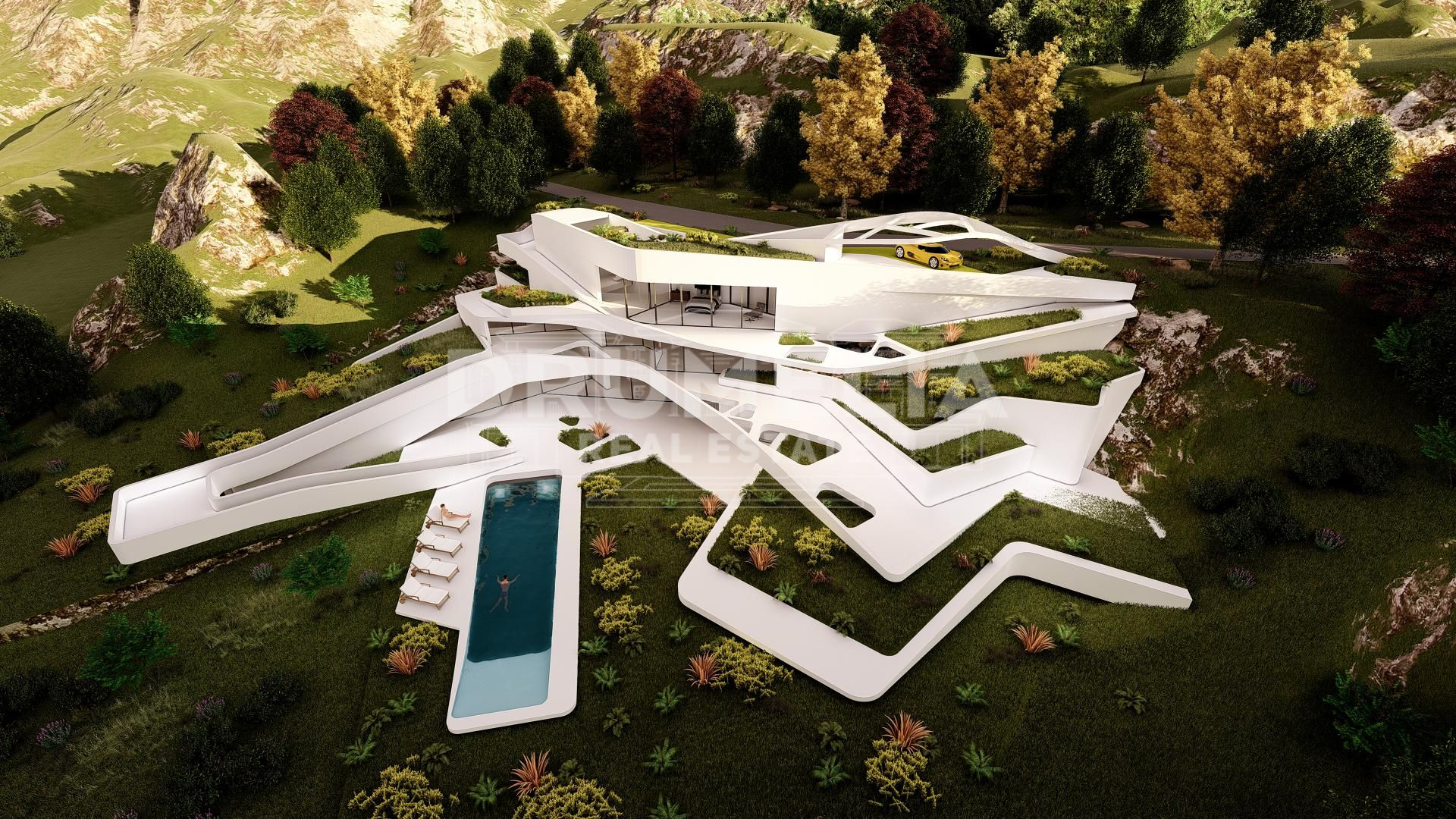 Benahavis, Unique Futuristic Luxury Villa with 'WOW' Factor, Monte Mayor