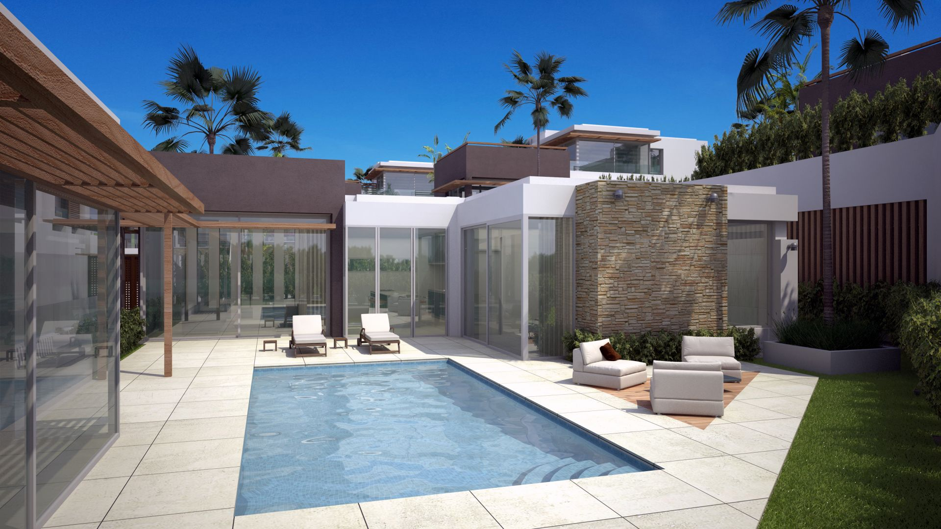 Twelve exclusive design villas within a gated community walking distance to the beach