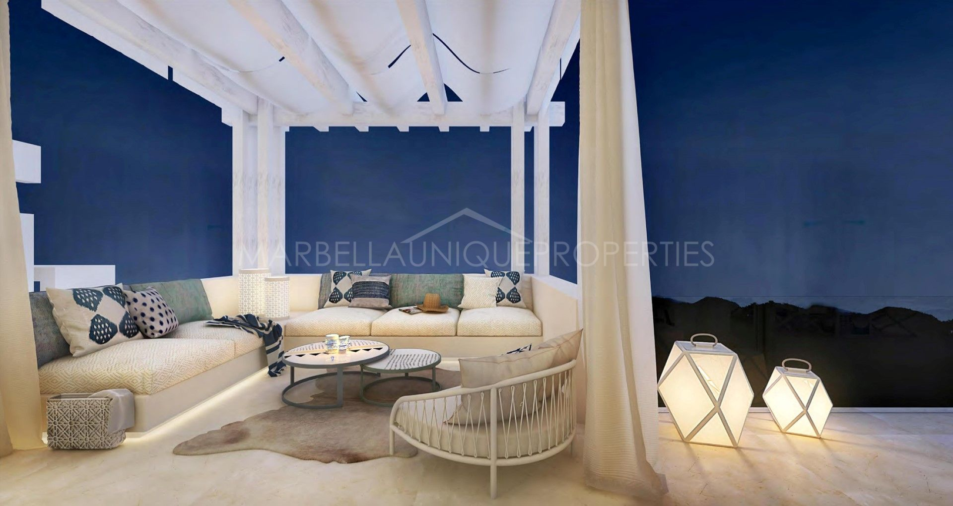 modern penthouse. Spectacular and modern penthouse for sale in Marbella Club Hills  Benahavis