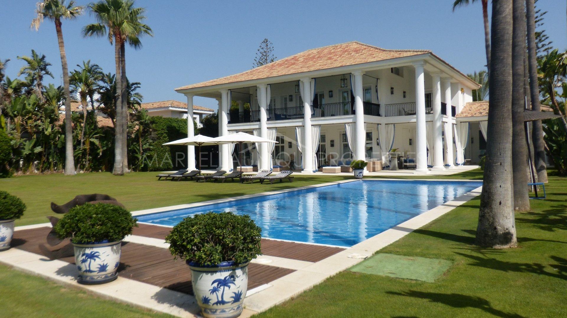 Stunning frontline beach villa in Casasola, Estepona