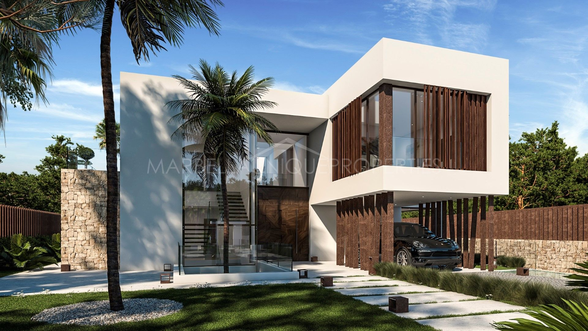 Modern villa for sale in the exclusive area of guadalmina baja