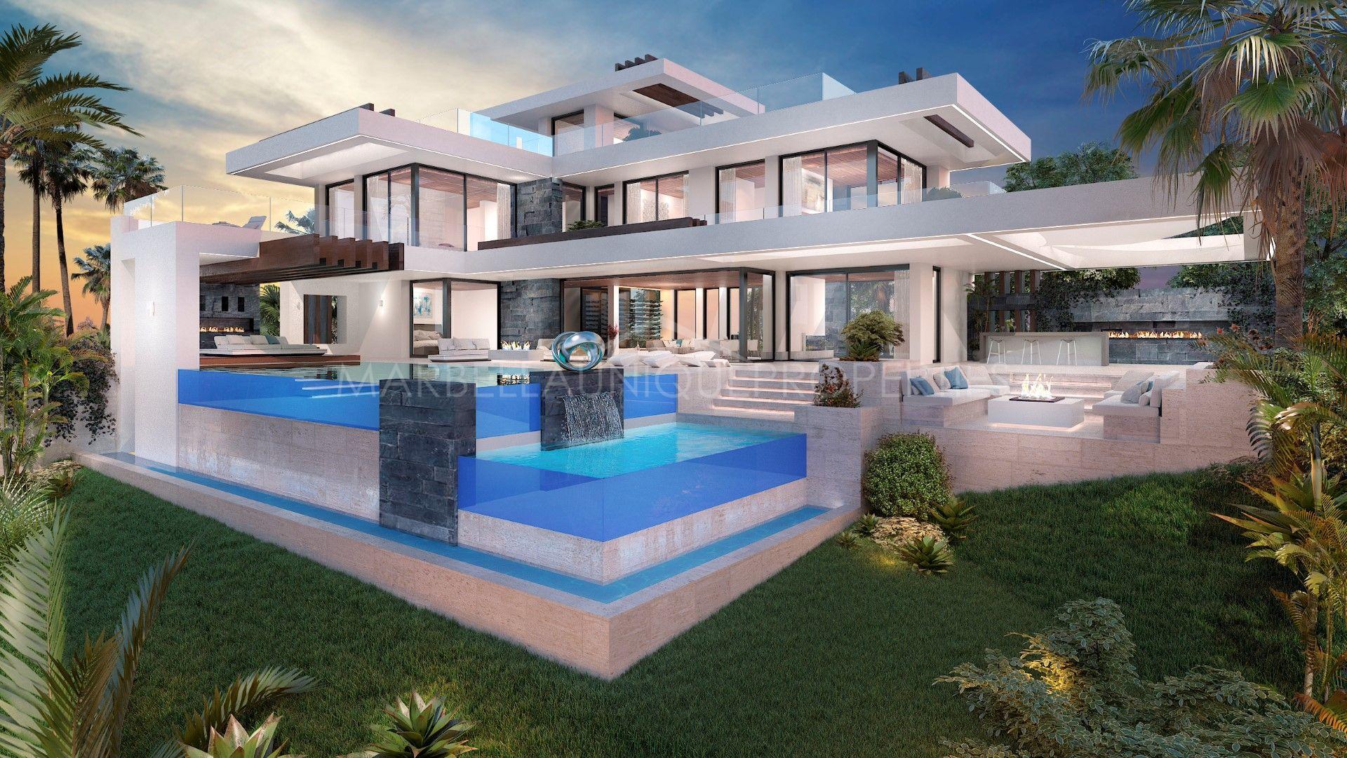 stylish modern villa project in la alqueria benahavis. Black Bedroom Furniture Sets. Home Design Ideas