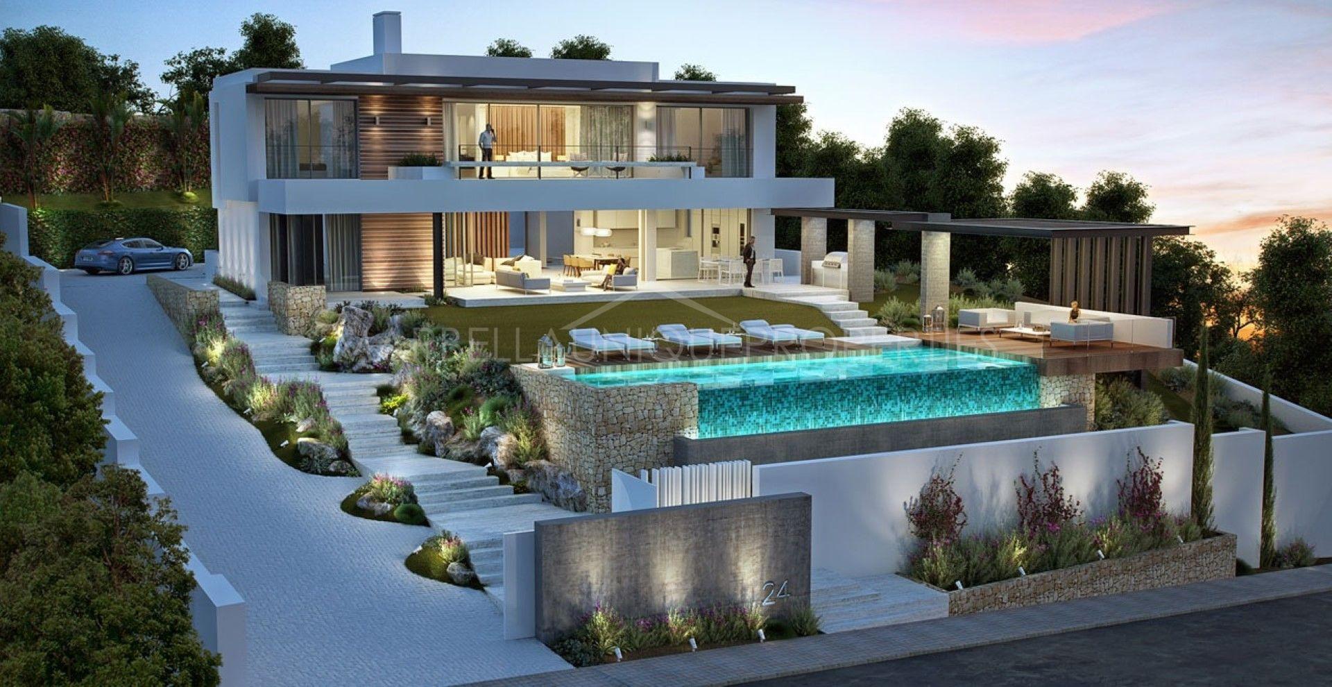 a sensational modern villa in capanes sur benahavis. Black Bedroom Furniture Sets. Home Design Ideas