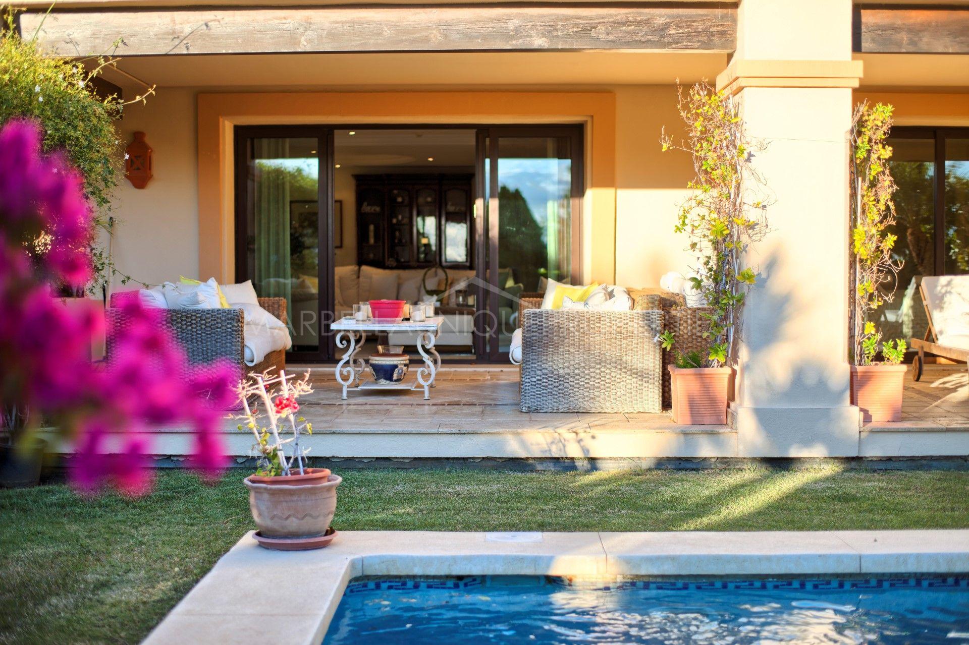 appartement rez de chauss e en vente aloha park marbella. Black Bedroom Furniture Sets. Home Design Ideas