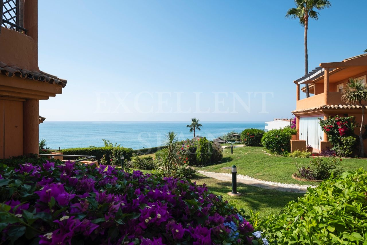 Bermuda Beach, Estepona, frontline beach townhouse for sale