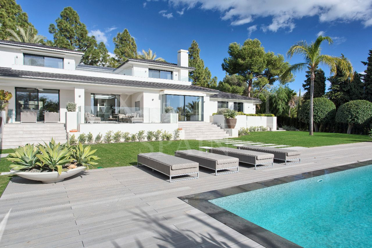 Hacienda Las Chapas, Marbella, stunning, fully renovated villa in modern style for sale