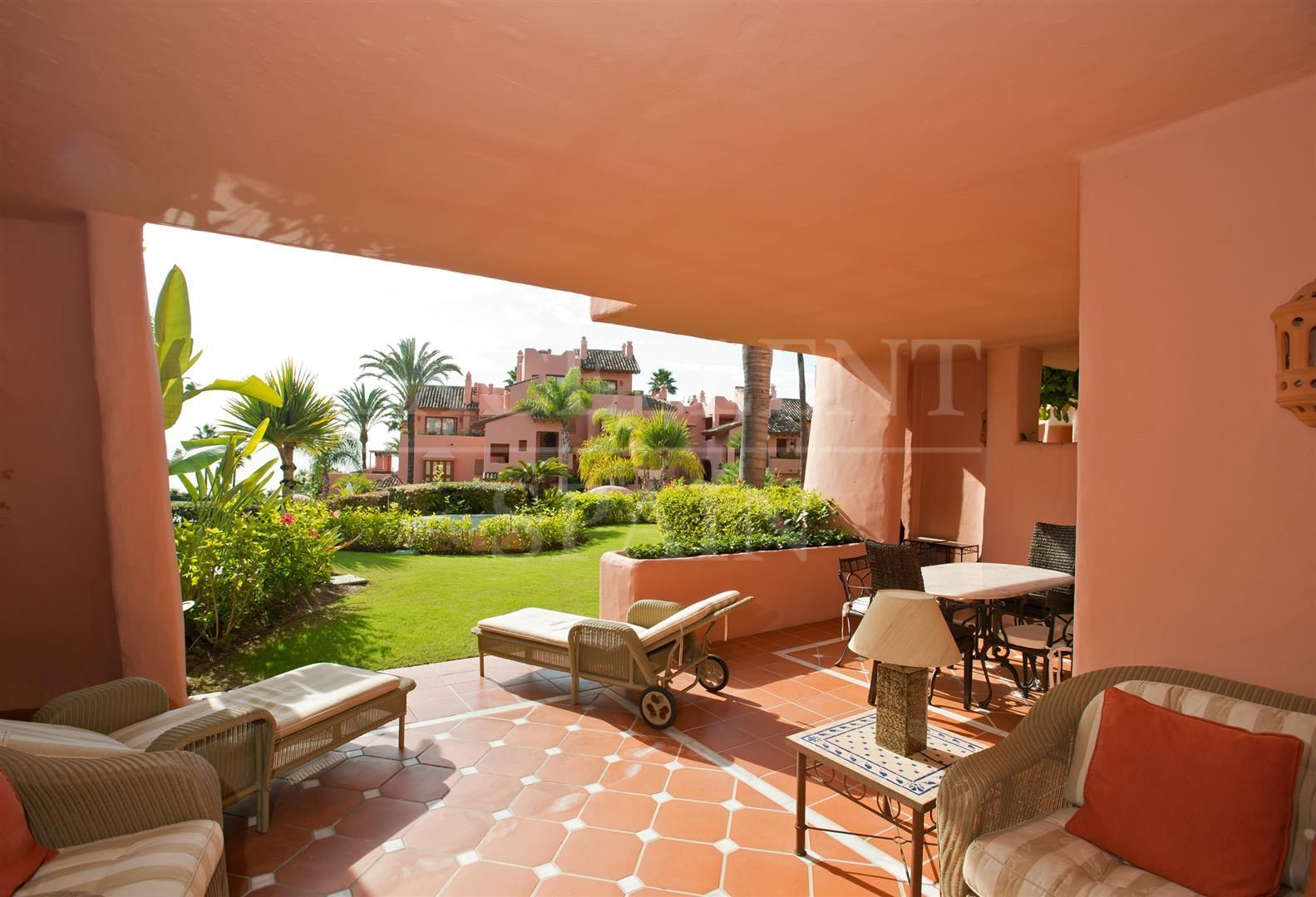Cabo Bermejo, Estepona, beachfront apartment with great sea views for sale