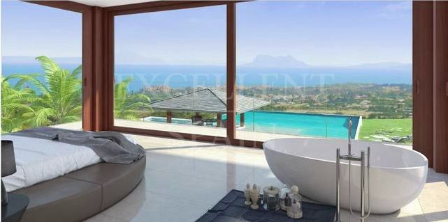Selwo Hills, Estepona, contemporary villa under construction with panoramic sea views