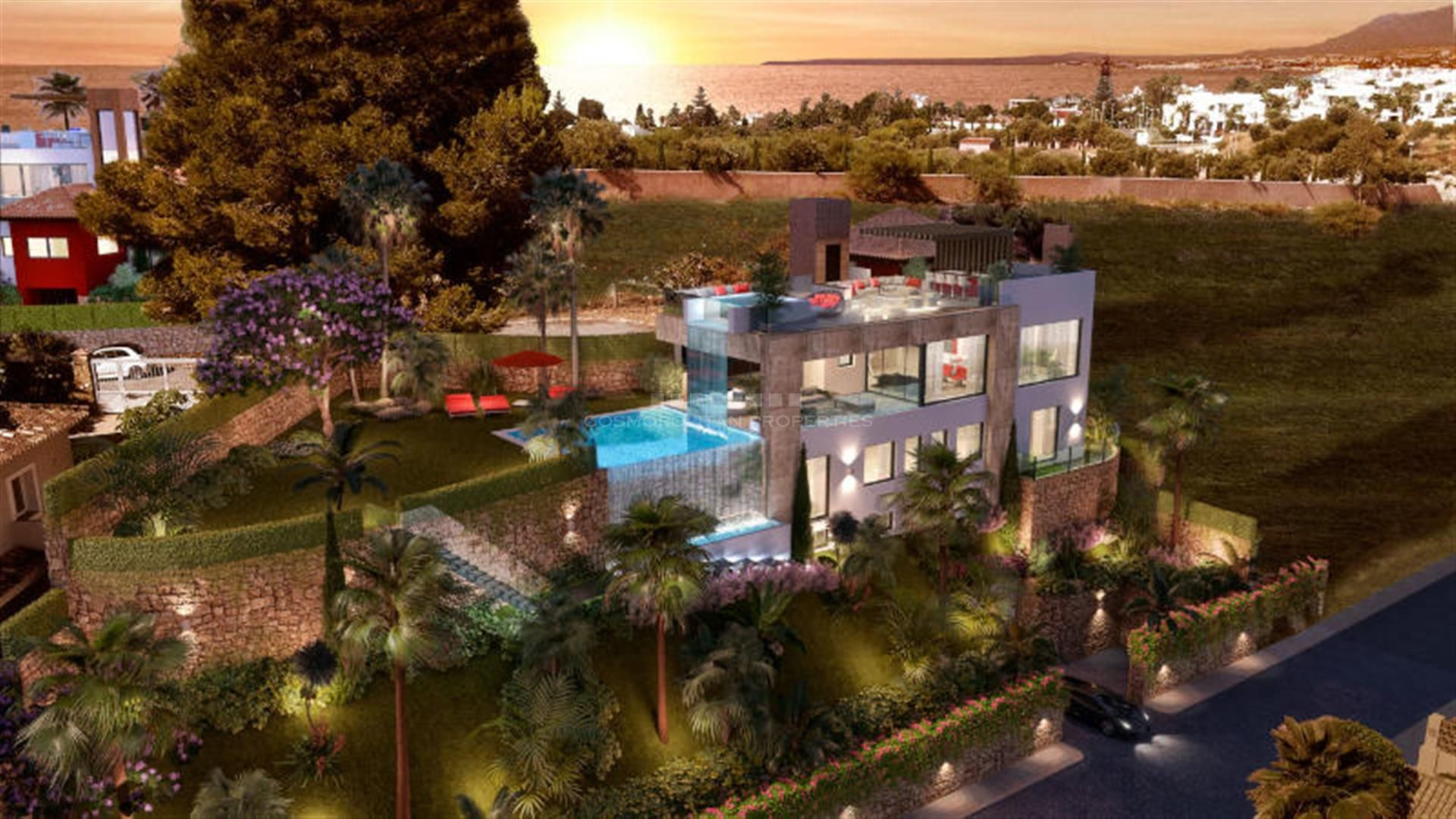 Villas unifamiliares de arquitectura mediterránea-contemporánea situadas en la bonita zona del campo de golf de Rio Real.