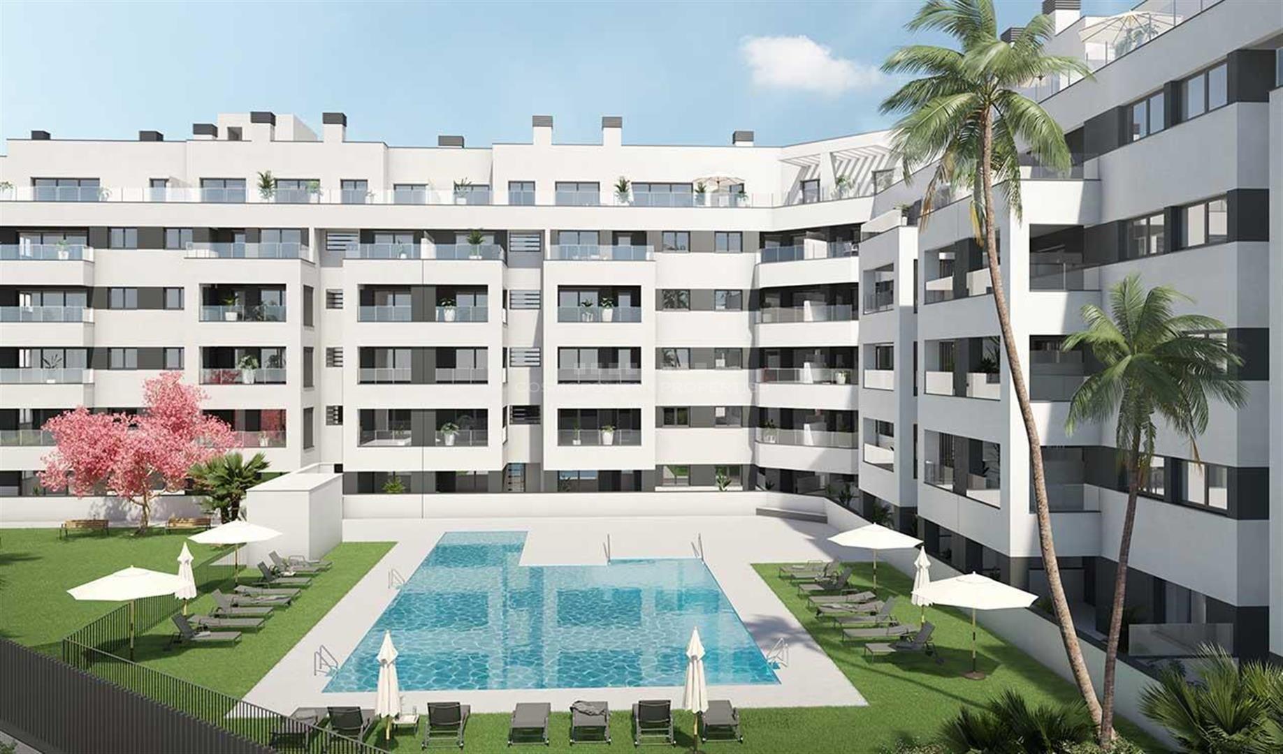 Célere Port Avenue es un conjunto residencial pensado para tu comodidad y la de los tuyos, un lugar idóneo donde vivir con tu familia, situado en Marbella Centro.
