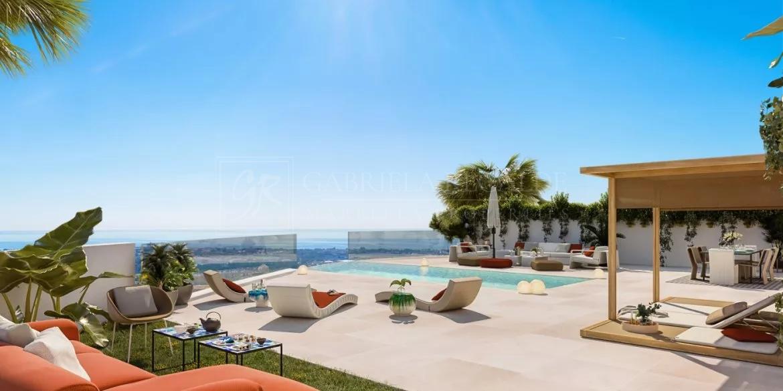 Luminosa villa en Benahavís con vistas panoramicas al mar