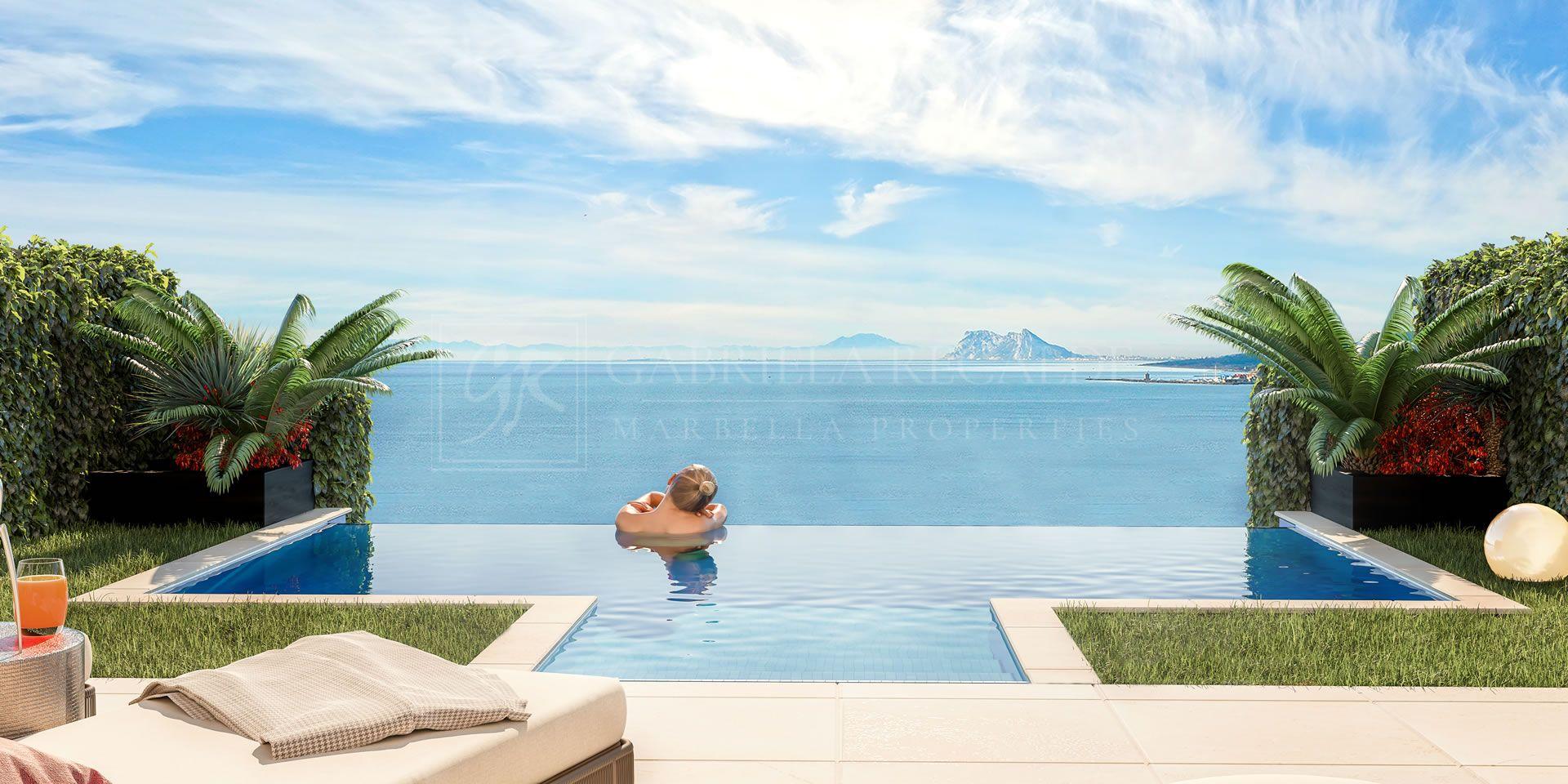 Golden View I, espectaculares casas adosadas con vistas al mar entre Marbella y Sotogrande