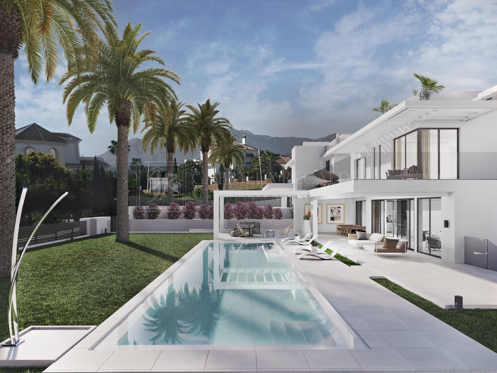 Beautiful family villa close to Villa Padierna - Los Flamingos/under construction