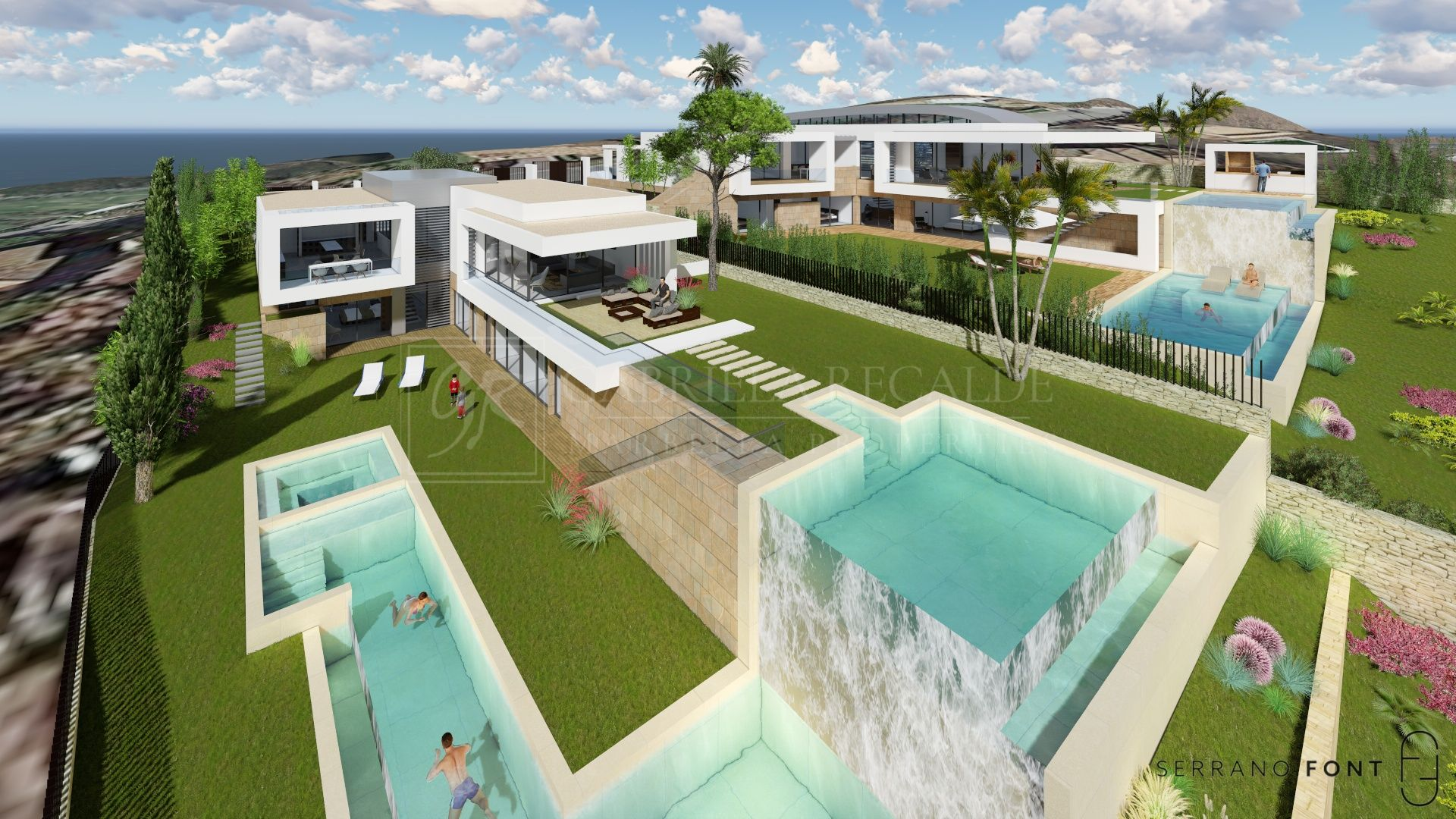 Plot with Planning Approved for Two Villas