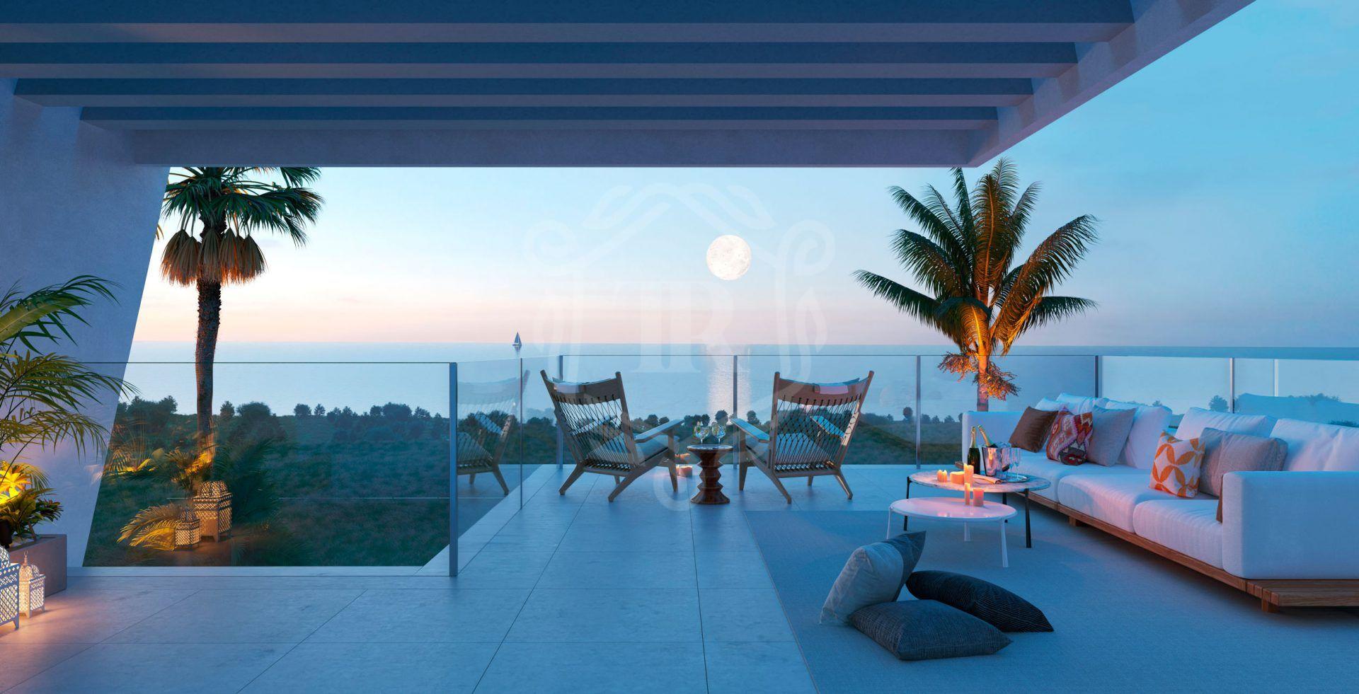Casa adosada de estilo a contemporáneo con espectaculares vistas al mar