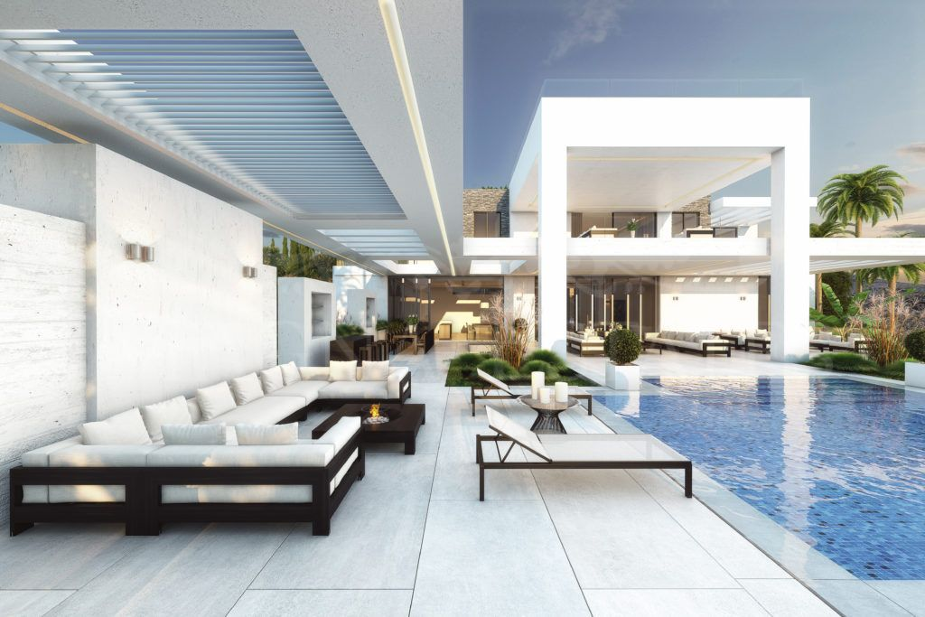 Villa of avant-garde design on the first line of golf in the Flamingos