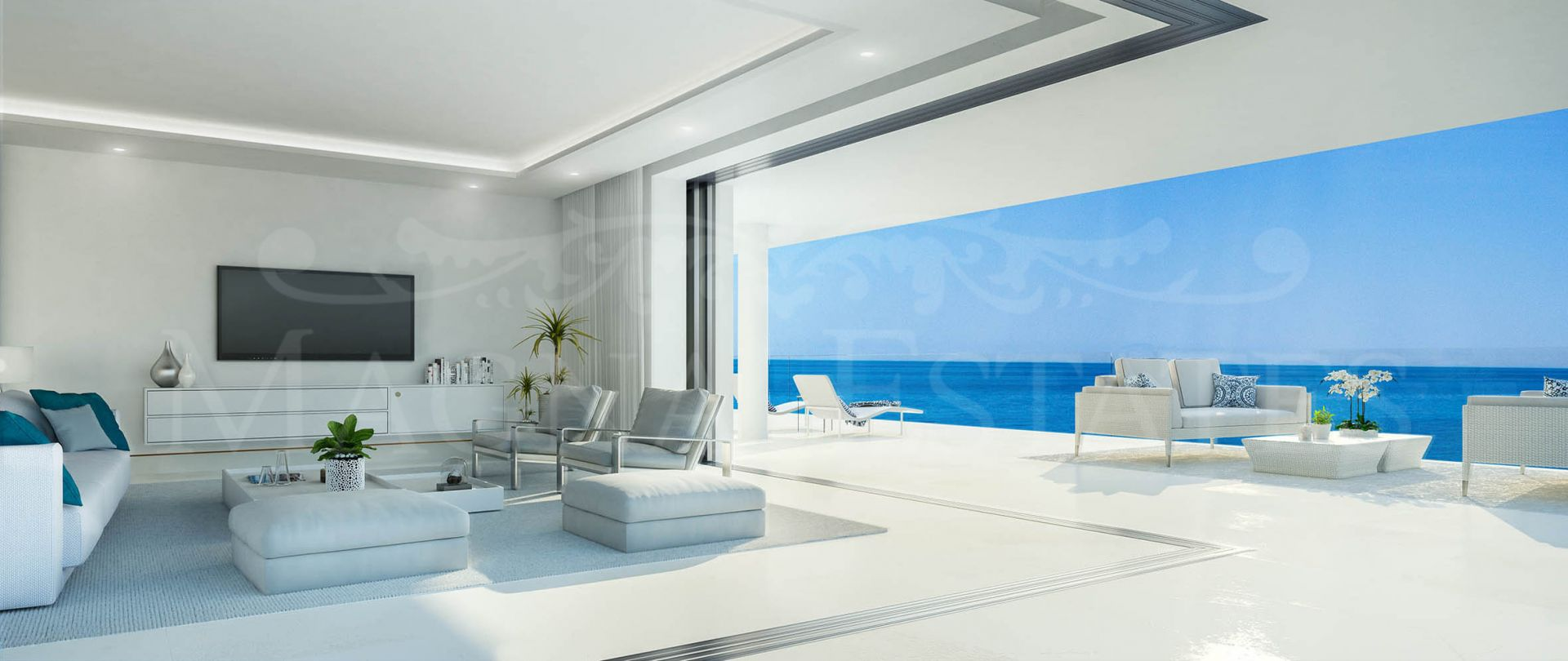 Exceptional and exclusive first line beachfront apartment project on the New Golden Mile