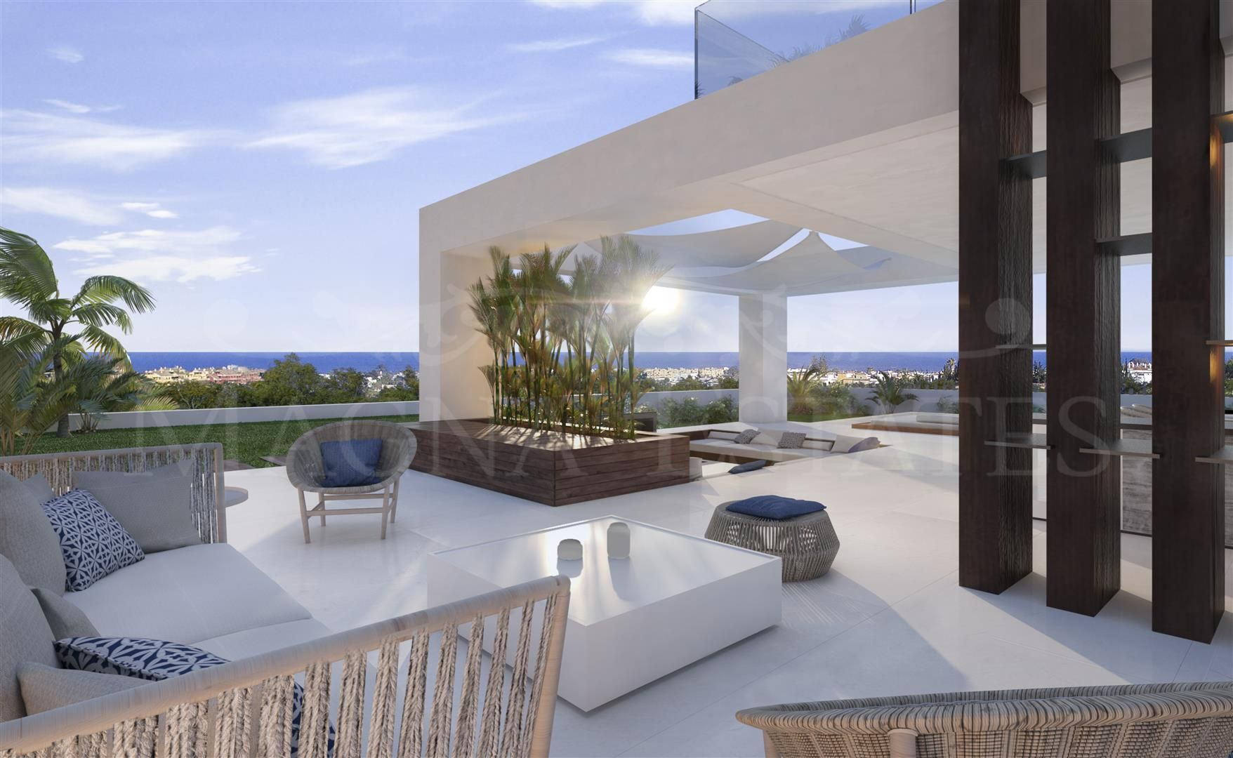 Project of contemporary design villas in Cancelada