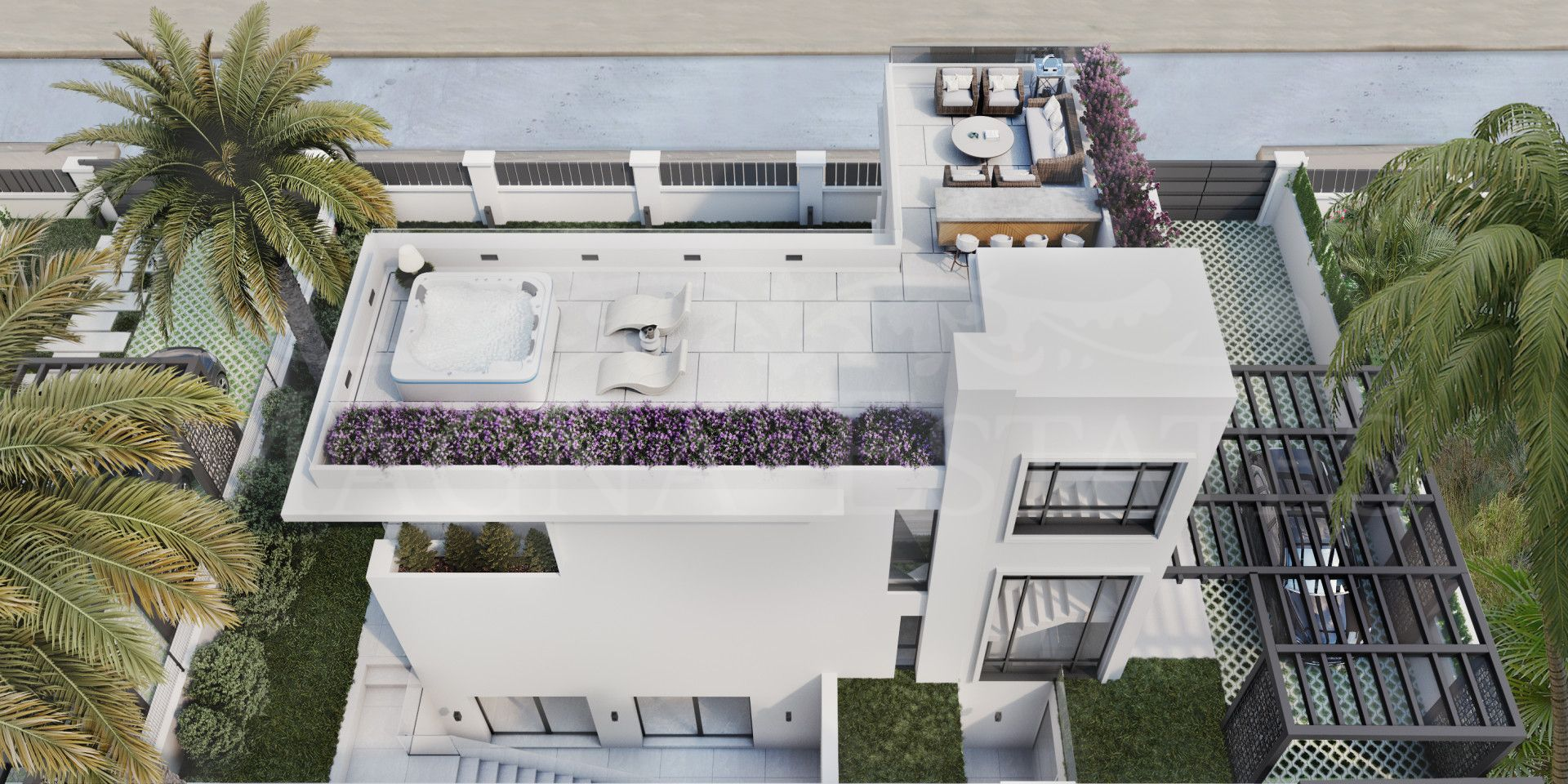 Brand new villa on the Golden Mile of Marbella, on the second line of the beach