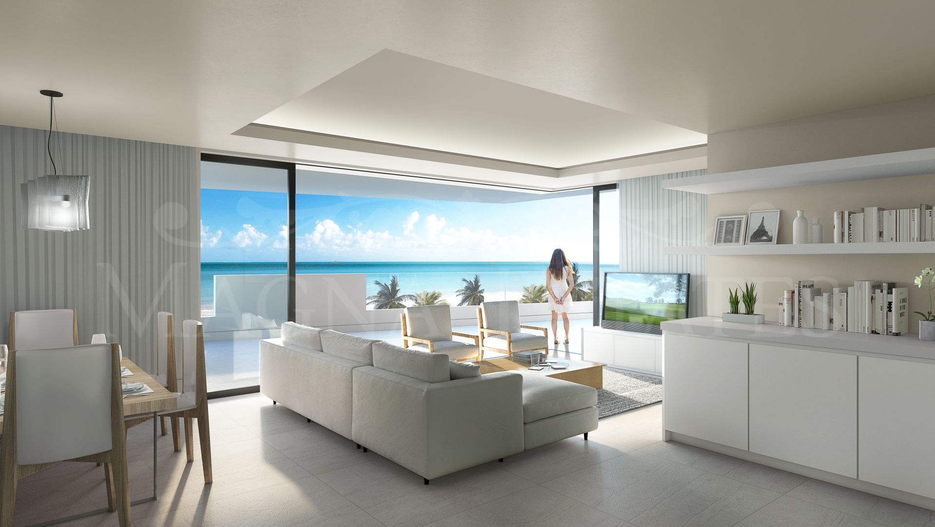 Brand new townhouse on the first line of the beach on the New Golden Mile