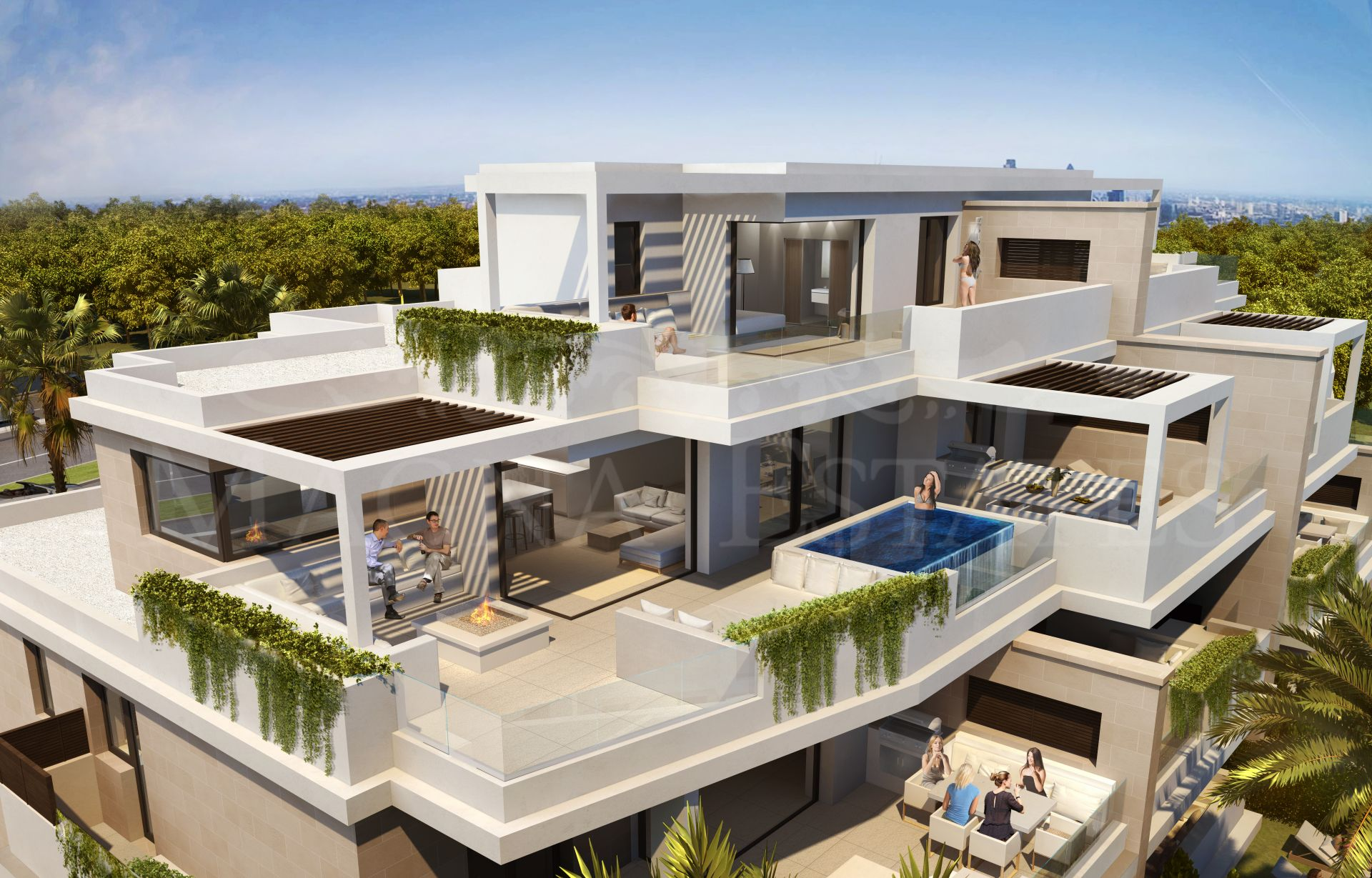 Brand new apartment on the first line of the beach on the New Golden Mile