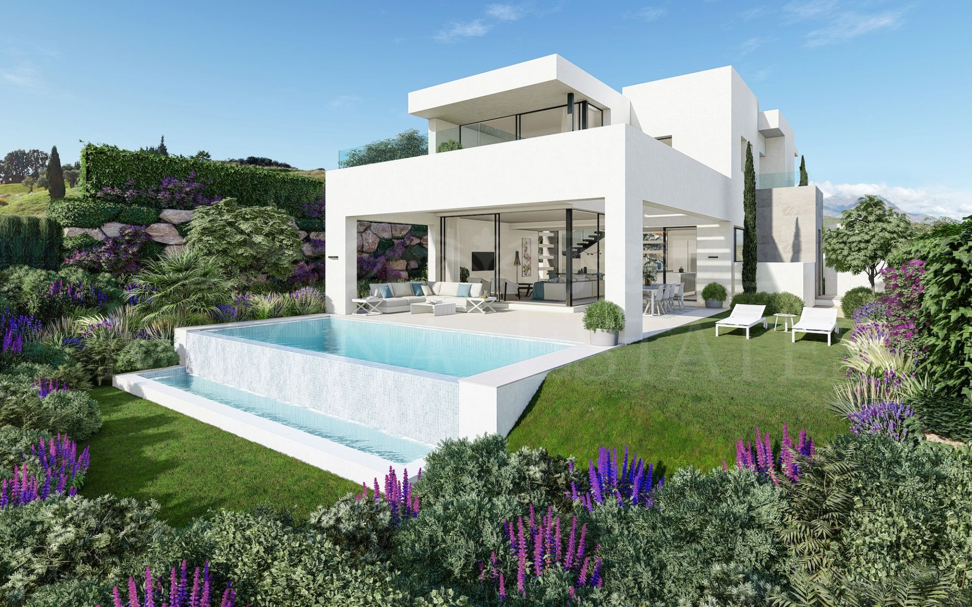 Contemporary design villas on the first line of Estepona Golf