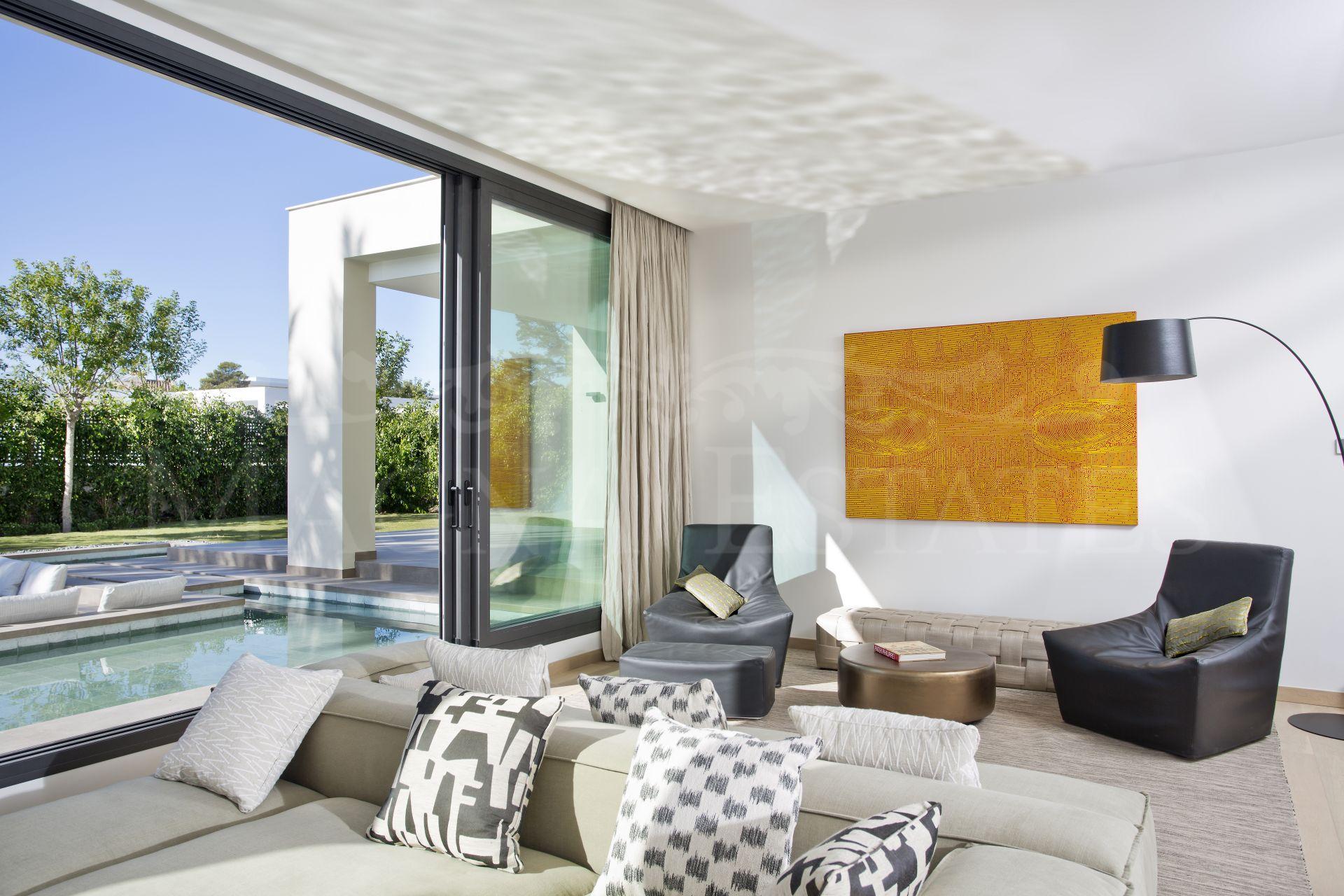 Brand new villa on the second line of the beach in Casasola, Guadalmina Baja.