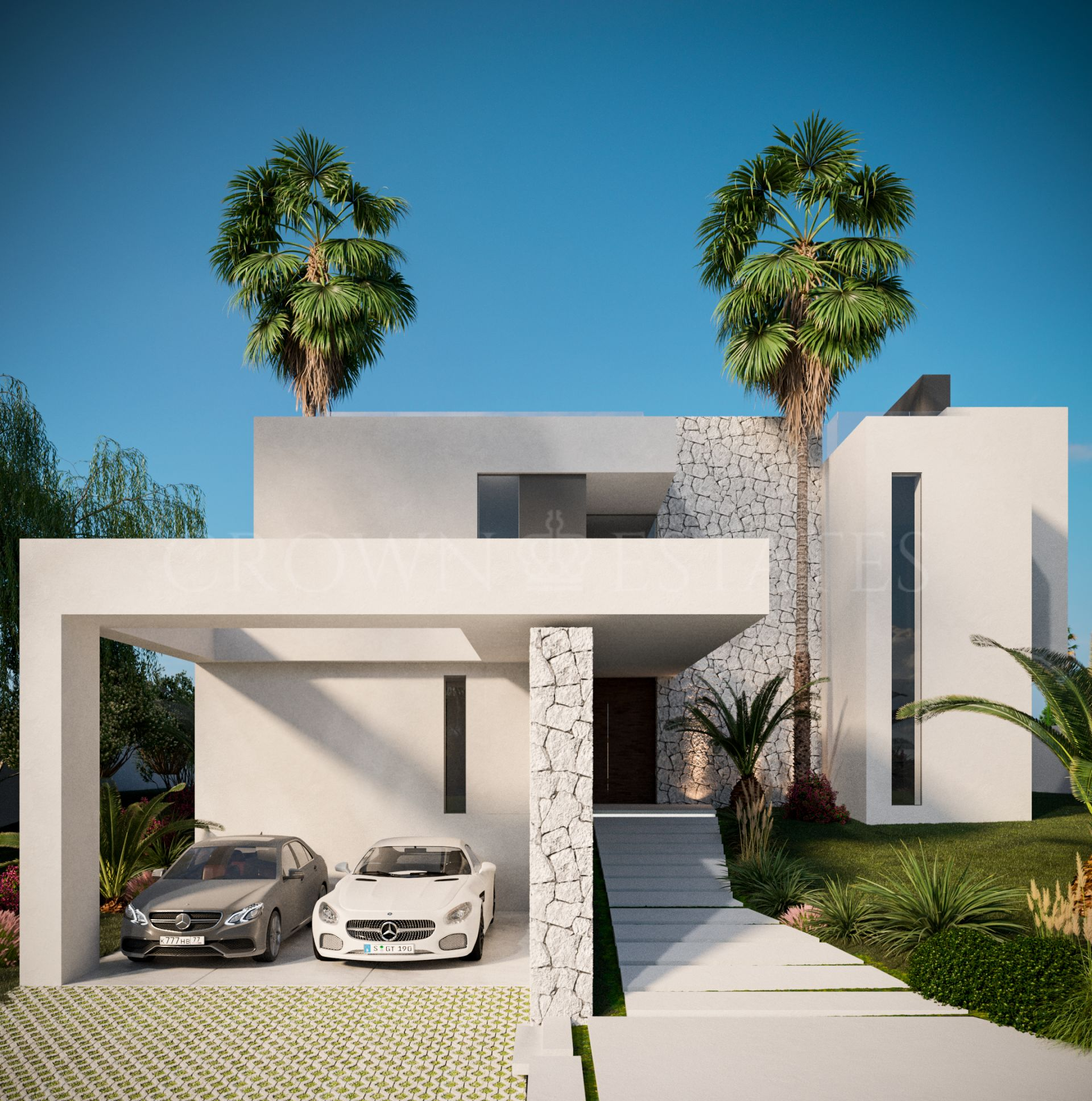 Ántik Villas is a development of contemporary villas with excellent sea views in Estepona.