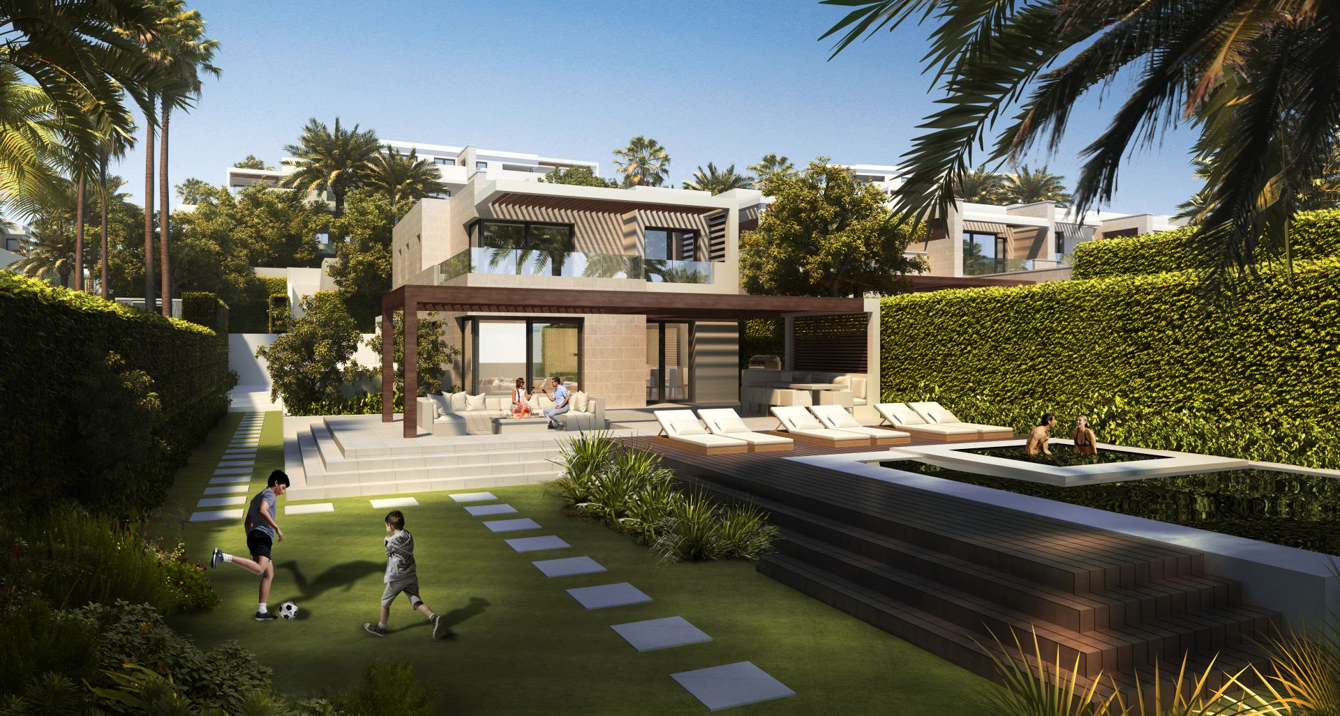 New off plan project of apartments and penthouses in Estepona