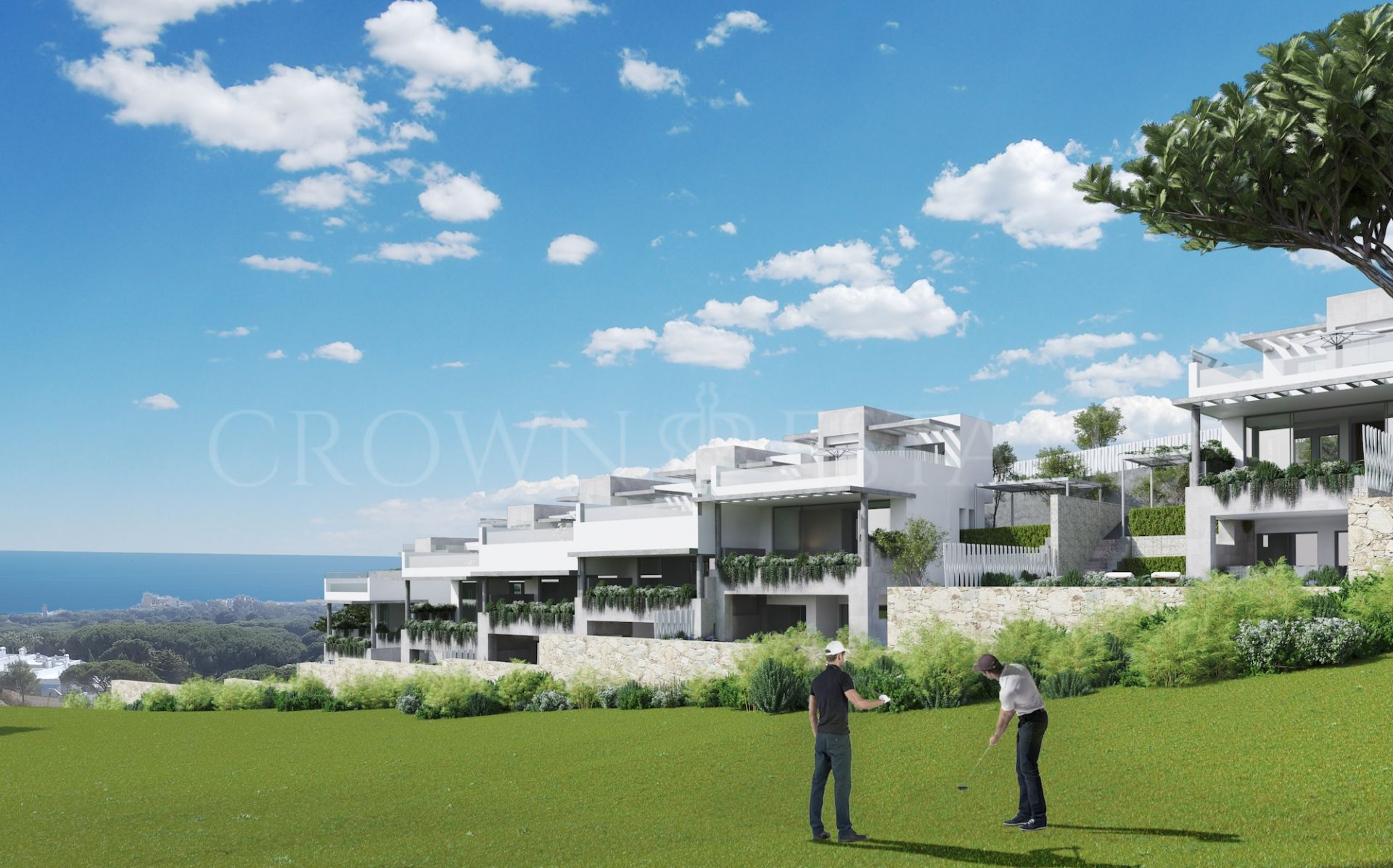 Modern townhouses frontline golf in Cabopino