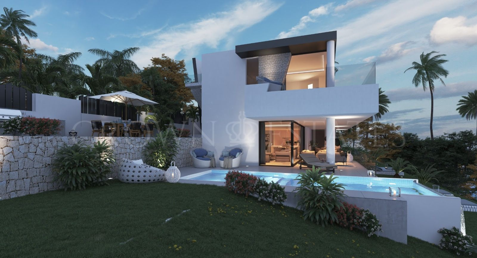 Magnificent Villas a Few Steps from El Campanario Golf.