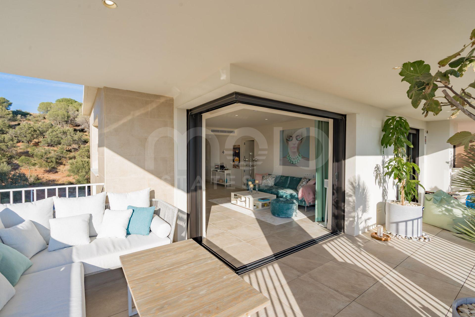 Groot en mooi appartement met uitzicht op La Cala de Mijas en de Middellandse Zee